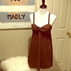 Super cute brown rip curl cotton dress!